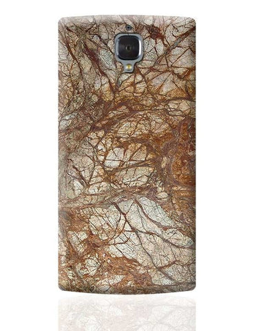 Brown Marble Glossy OnePlus 3 Covers Cases Online India
