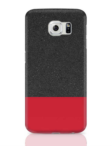 Red & Black texture Samsung Galaxy S6 Covers Cases Online India