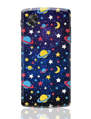 Colourful Stars and Planets  Google Nexus 5 Covers Cases Online India