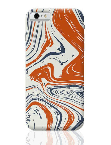 blue and orange marble abstract texture iPhone 6 / 6S Covers Cases