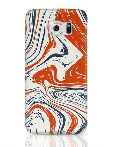 blue and orange marble abstract texture Samsung Galaxy S6 Covers Cases Online India