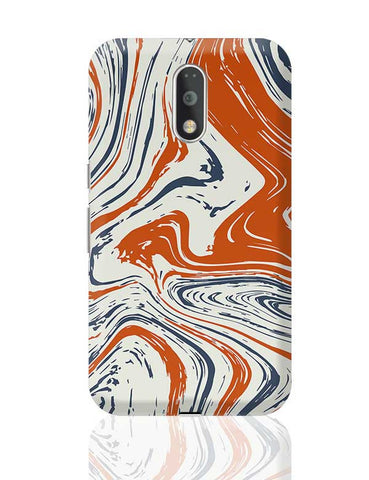 blue and orange marble abstract texture Moto G4 Plus Online India