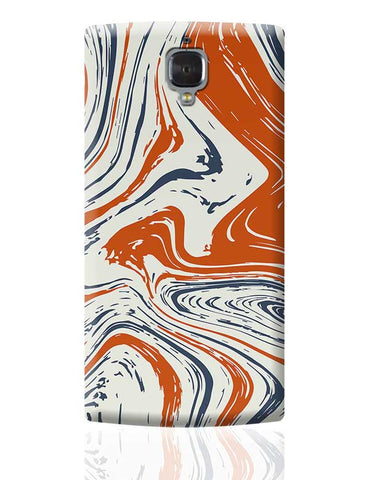 blue and orange marble abstract texture OnePlus 3 Covers Cases Online India