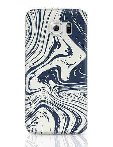 blue marble abstract texture Samsung Galaxy S6 Covers Cases Online India