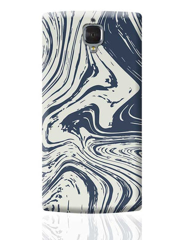 blue marble abstract texture OnePlus 3 Covers Cases Online India