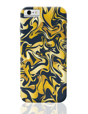 yellow and blue marble abstract texture iPhone 6 / 6S Covers Cases