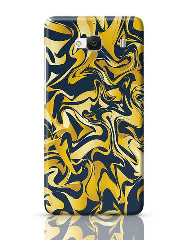 yellow and blue marble abstract texture Redmi 2 / Redmi 2 Prime Covers Cases Online India