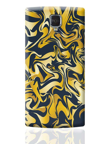 yellow and blue marble abstract texture OnePlus 3 Covers Cases Online India