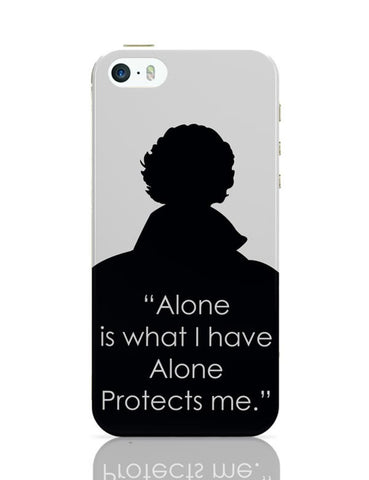 Sherlock - Alone Protects Me iPhone 5/5S Covers Cases Online India