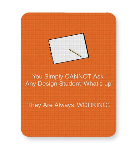 Whatsup, Design, Designstudent, Student, Work, Working, Graphic, Sketch Mousepad Online India