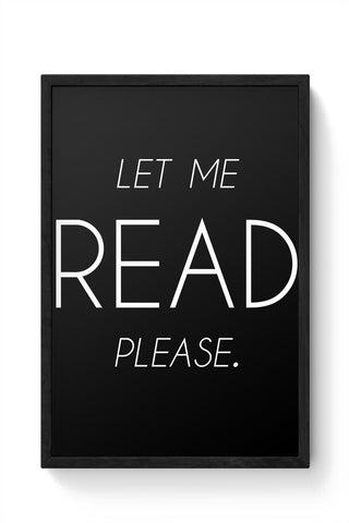 Let me read Framed Poster Online India
