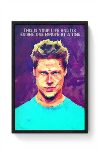 Fight Club Brad Pitt Framed Poster Online India