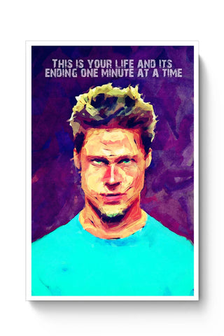 Fight Club Brad Pitt Poster Online India