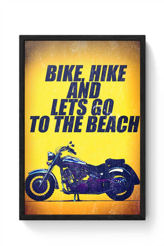 Biker Framed Poster Online India