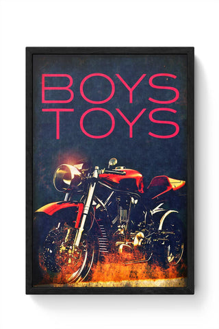 Boys Toys Bike Framed Poster Online India