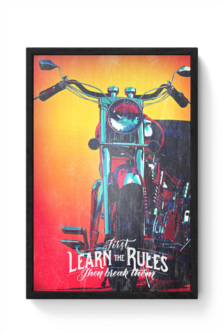 Travel Bike Framed Poster Online India
