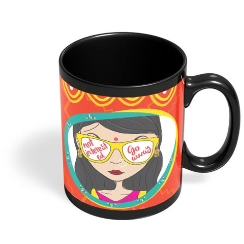Not Interested Black Coffee Mug Online India