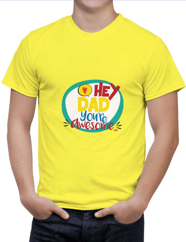 Buy Hey Dad Woman T-Shirts Online India | Hey Dad T-Shirt | PosterGuy.in