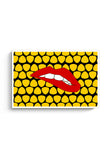 Lips Bite Yellow Poster Online India