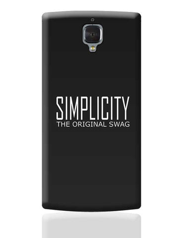 simplicity the original swag OnePlus 3 Covers Cases Online India