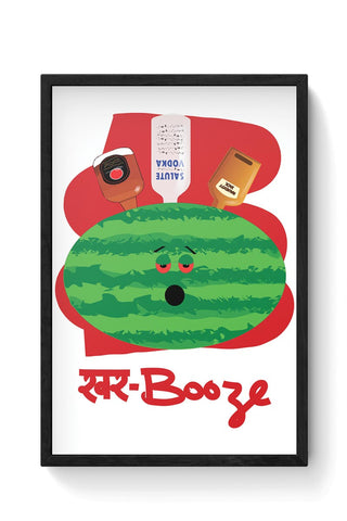 khar booze watermelon drink Framed Poster Online India