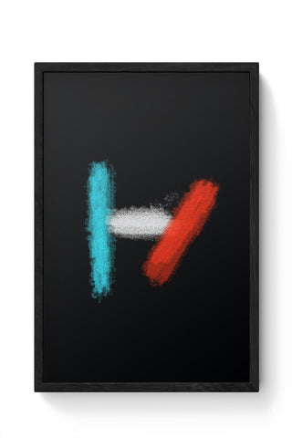 twenty one pilots logo black Framed Poster Online India