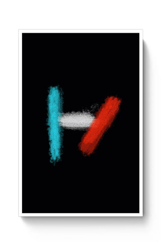 Buy twenty one pilots logo black Poster