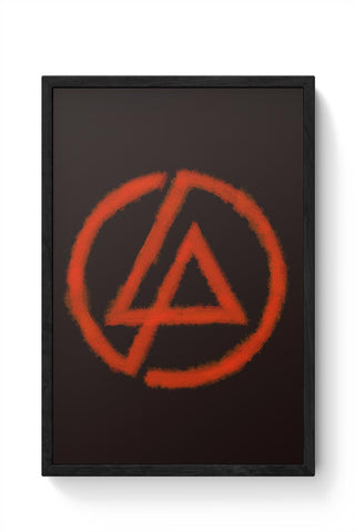 Linkin Park logo black Framed Poster Online India