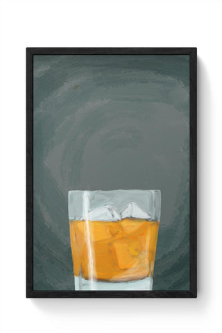 Scotch on the rocks Framed Poster Online India