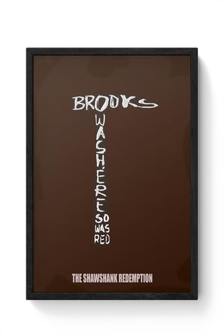 the shawshank redemption movie poster 2 Framed Poster Online India