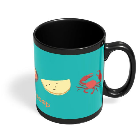 Love For Food Black Coffee Mug Online India
