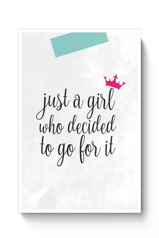 Just A Girl Who Decided To Go For It !! Poster Online India