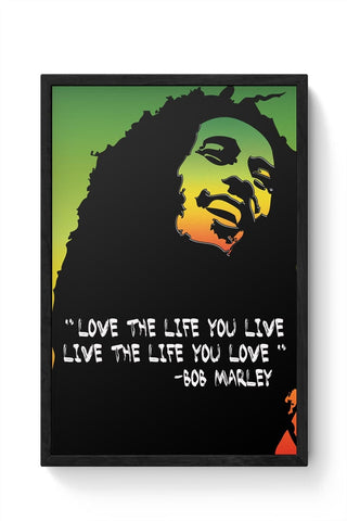 Music,Bobmarley,Quote,Illustration,Typography,Motivational,People,Famous,Quirky Framed Poster Online India