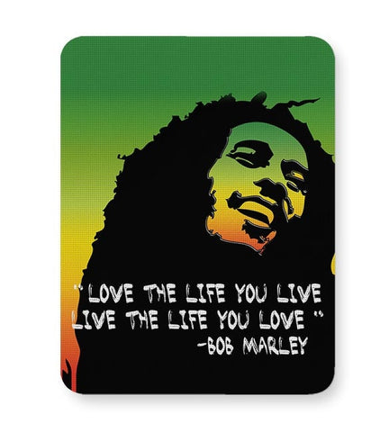 Music,Bobmarley,Quote,Illustration,Typography,Motivational,People,Famous,Quirky Mousepad Online India