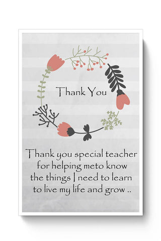 Thank You Teacher  Poster Online India