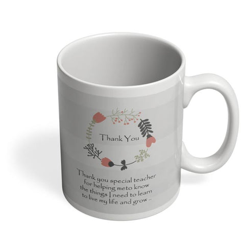 Thank You Teacher  Coffee Mug Online India