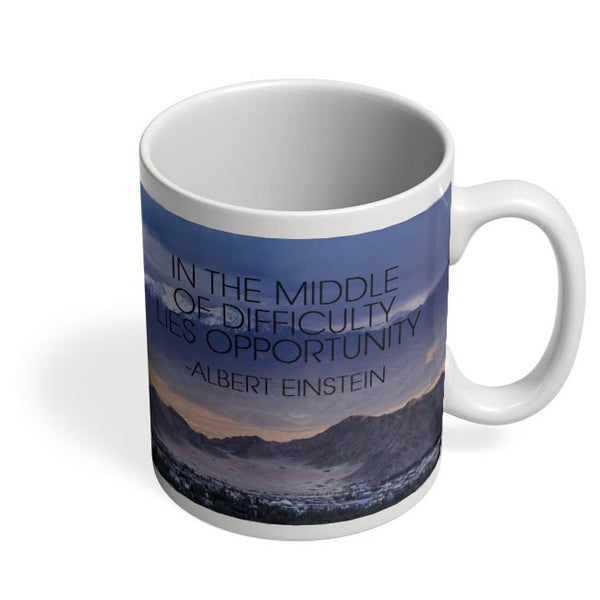 Start up Motivation Quote - Albert Einstein Coffee Mug Online India