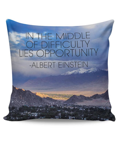 Start up Motivation Quote - Albert Einstein Cushion Cover Online India