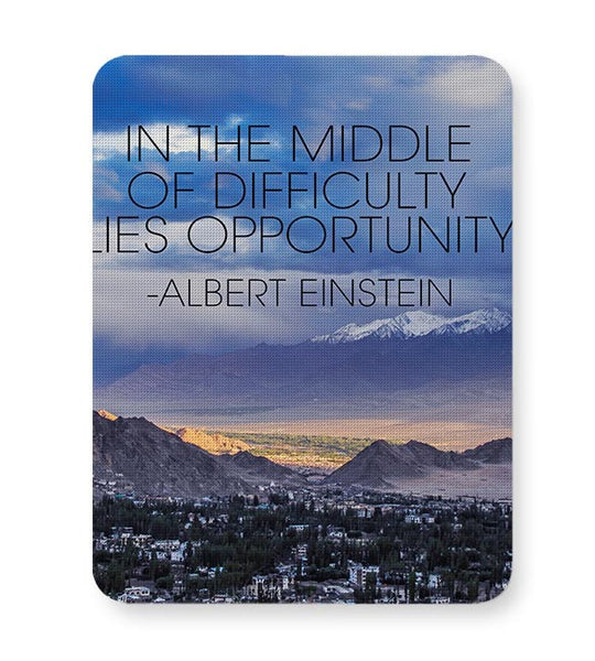 Start up Motivation Quote - Albert Einstein Mousepad Online India