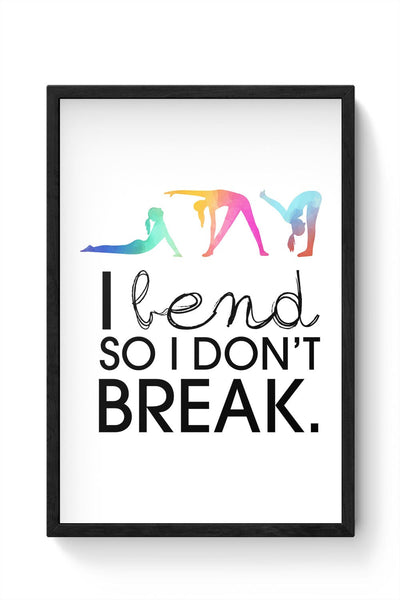 Yoga Inspiration Framed Poster Online India