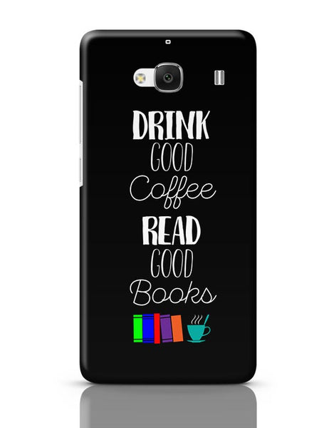 Good coffee & books !! Redmi 2 / Redmi 2 Prime Covers Cases Online India