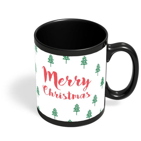 Merry Christmas minimal -Christmas Special Black Coffee Mug Online India