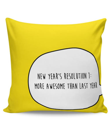New Year Resolution  Cushion Cover Online India