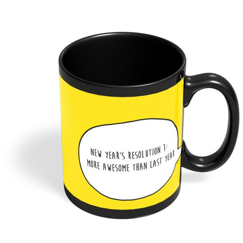 New Year Resolution  Black Coffee Mug Online India