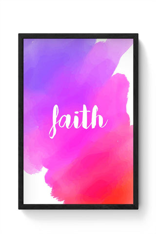 Faith - Watercolor Framed Poster Online India