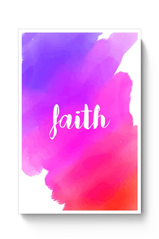 Faith - Watercolor Poster Online India