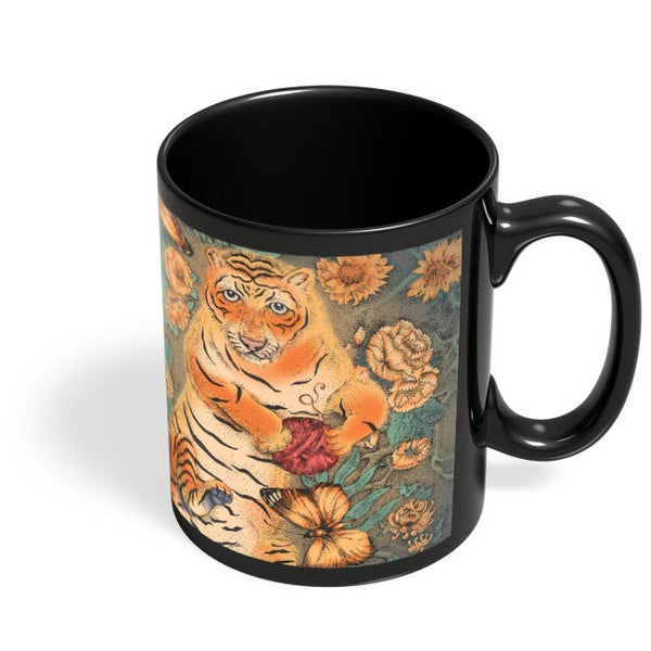 Bengal Tiger Black Coffee Mug Online India