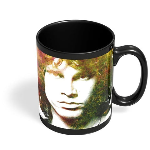 Jim Morrison Artwork Black Coffee Mug Online India