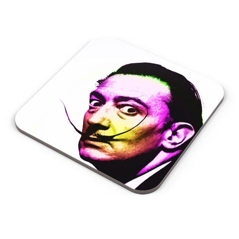 Dali Awesome Mustache Pop Art Coaster Online India