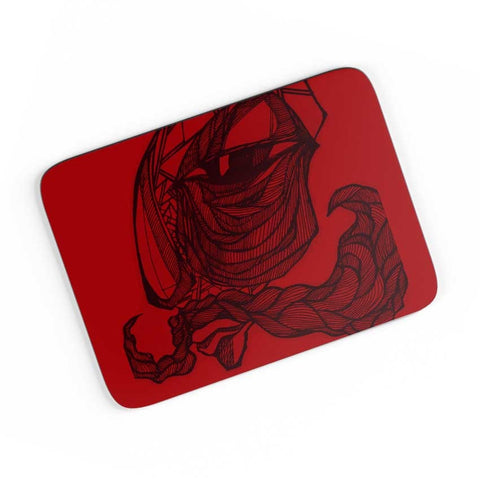 Awesome Mustache Doodle A4 Mousepad Online India